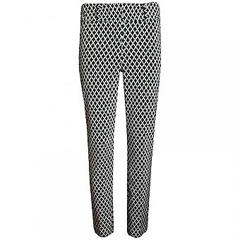 Frank Lyman Women's Diamond Check Tailored Trousers