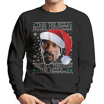 Twas de Nizzle voordat Chrismizzle Snoop Dogg kerst mannen Sweatshirt