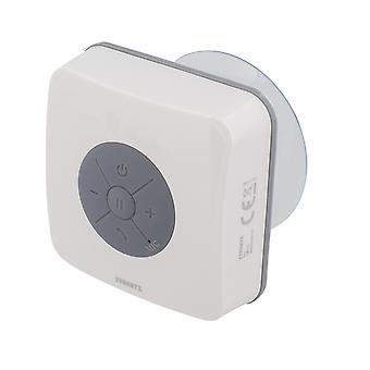 STREETZ resistente al agua IPX5 Bluetooth altavoz con ventosa blanco