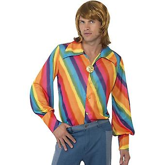 1970s Rainbow Colour Shirt, Chest 42