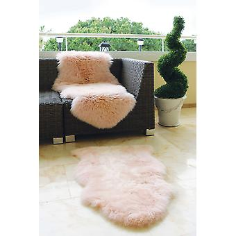 SheepSkins Hug Peach  Rectangle Rugs Plain/Nearly Plain Rugs