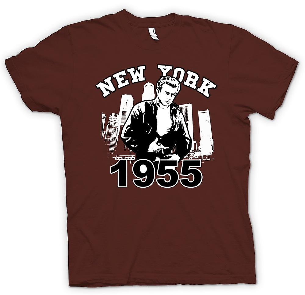 Mens t-skjorte - James Dean NYC 1955 - Filmikonet