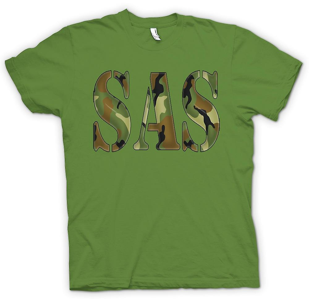Mens T-shirt - SAS Camo - UK Special Forces