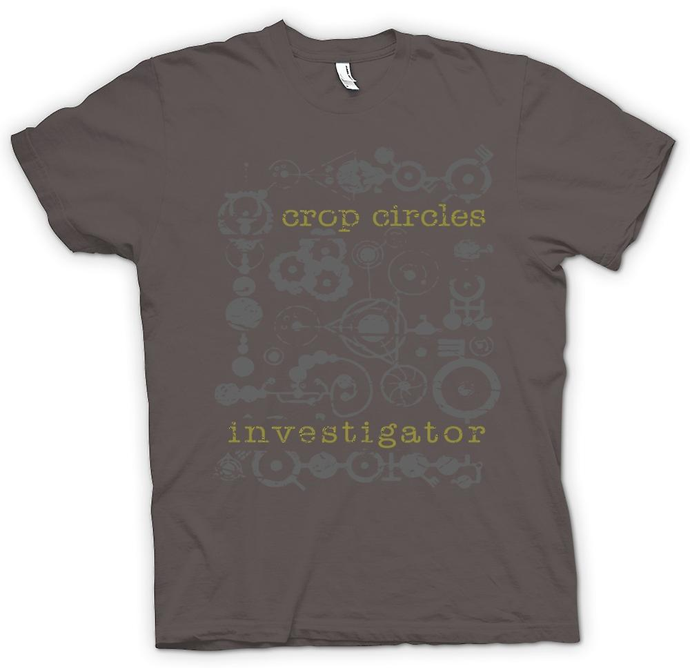 Womens T-shirt - Crop Circles Investigator - UFOs - Aliens - Unexplained