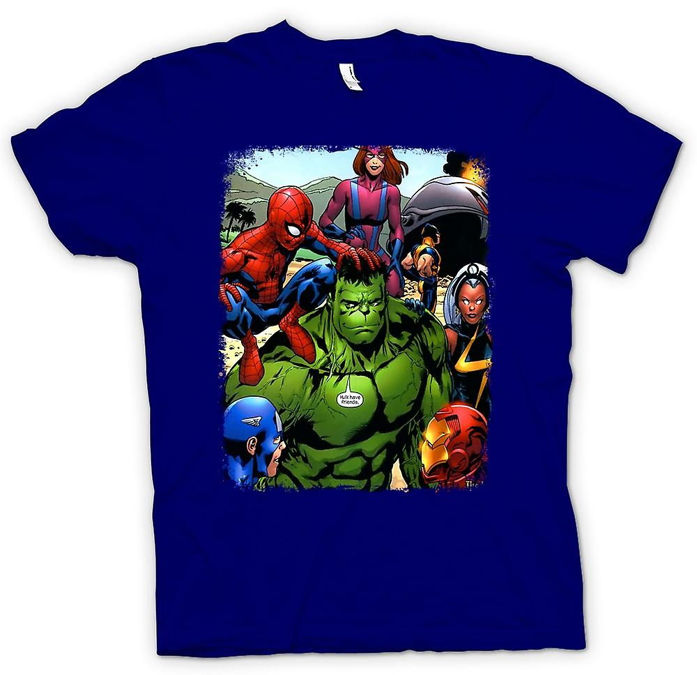 Herr T-shirt-Hulk Spiderman Iron Man