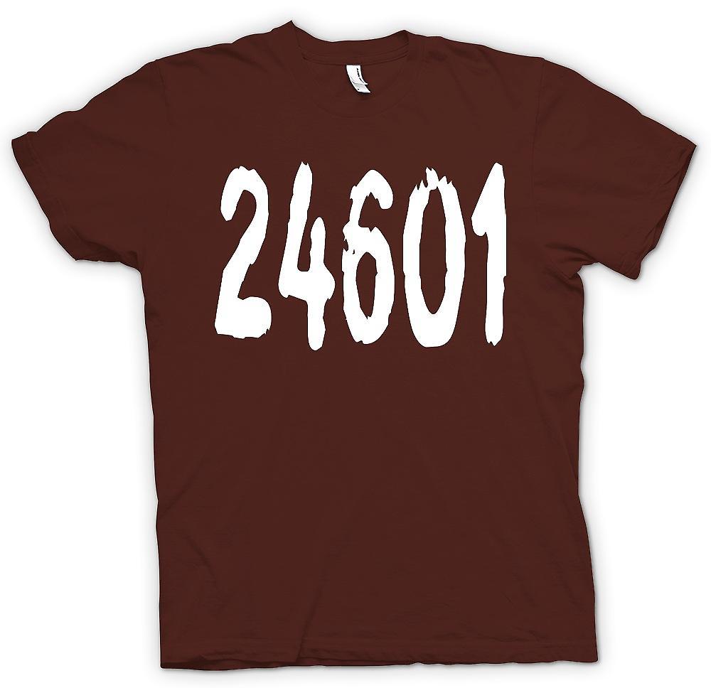 Mens t-shirt - 24601 - Jeann Valjean prigione numero