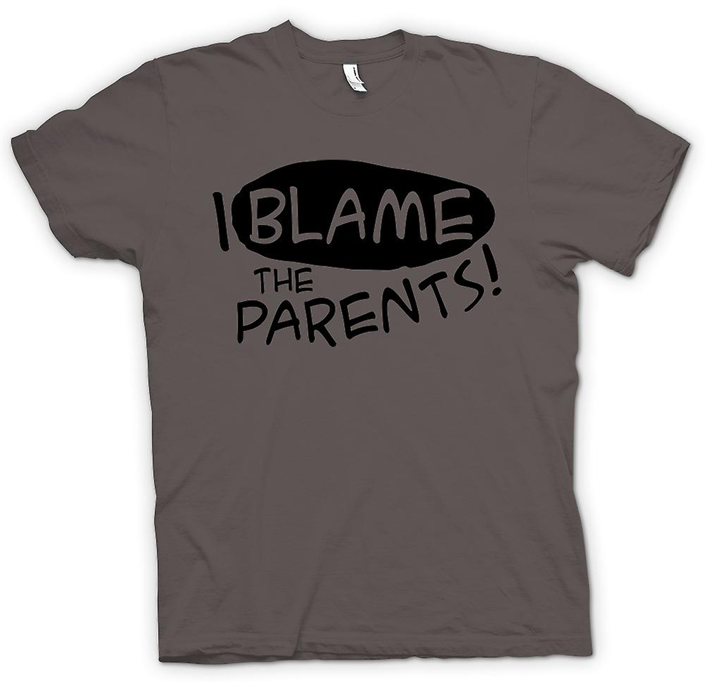 Womens T-shirt - I Blame The Parents - Funny Joke