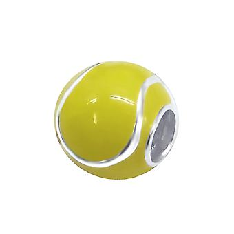 Tennis Ball - 925 Sterling Silver Plain Beads - W11049X