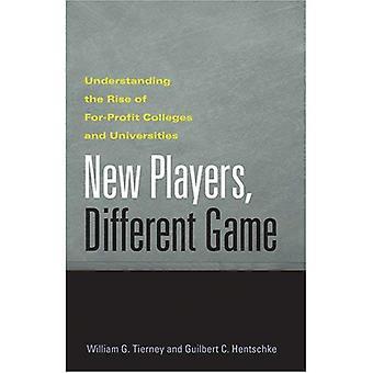 Nuovi giocatori, gioco diverso: Comprendere l'ascesa di scopo di lucro Università ed Università