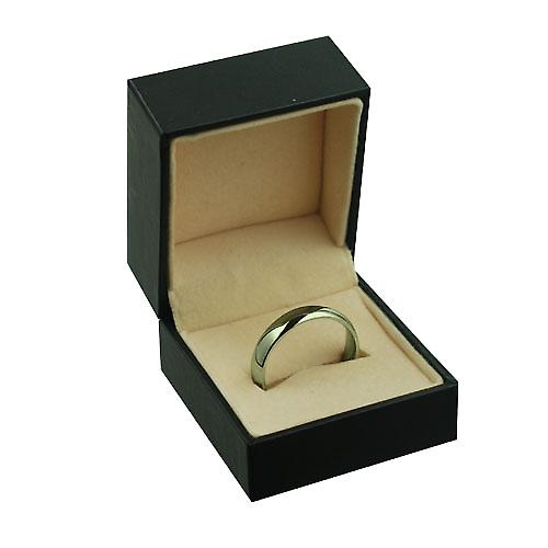 9ct Gold 5mm plain Court shaped Wedding Ring Size V