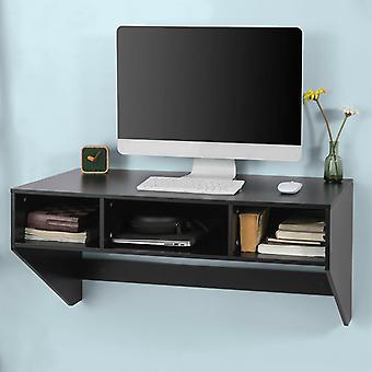 SoBuy Wall Mounted Computer Desk with Drawers FWT14-SCH