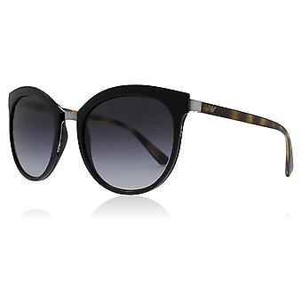 Emporio Armani EA2055 30108G Black EA2055 Oval Sunglasses Lens Category 3 Size 55mm