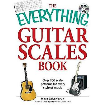 The Everything Guitar Scales Book with CD by Marc Schonbrun