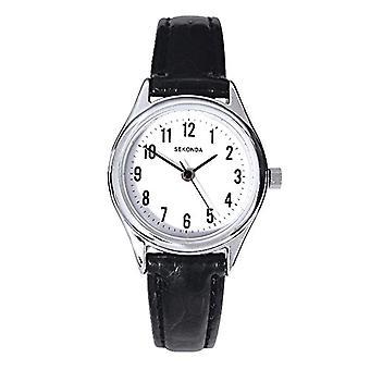 Sekonda wristwatch, female, stainless steel, black