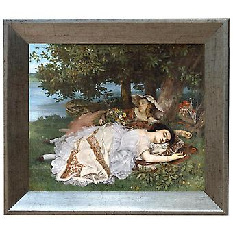 Med ram Young Women on the Banks of the,Gustave Courbet,61x51cm