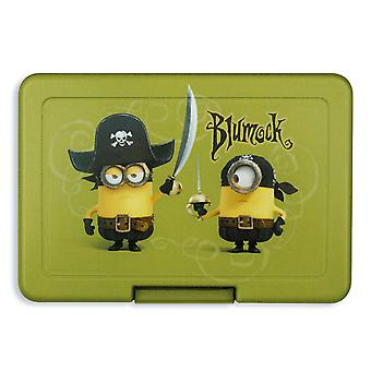 Despicable me minions lunchbox Blumock green, printed, plastic, in poly bag.