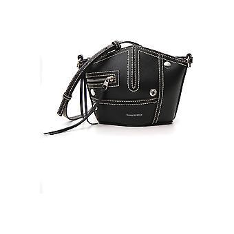 Alexander Mcqueen Black Leather Shoulder Bag