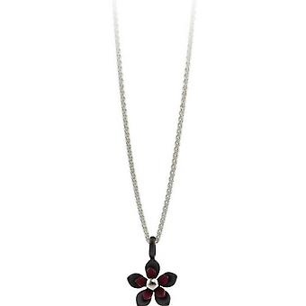 Ti2 Titanium vier Petal bloem hanger - Mulberry Brown