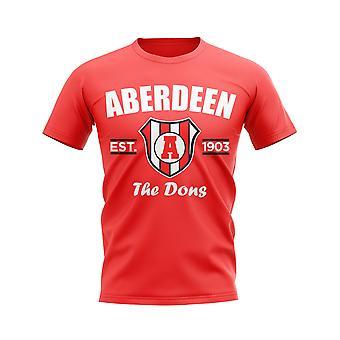 Aberdeen établi Football T-Shirt (rouge)