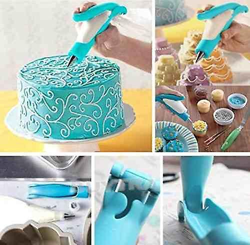 Piping Bag Nozzle Tips Fondant Chocolate Cake - Tool Decorating Pen Set for Cake Biscuit Icing Sugar Craft