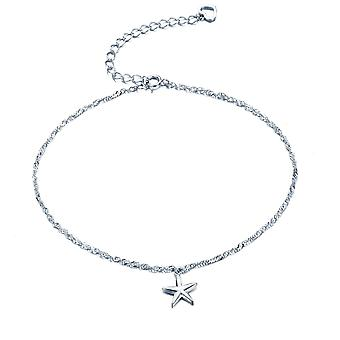 925 Sterling Silver Fashionable Five-pointed Star Ankle Chain