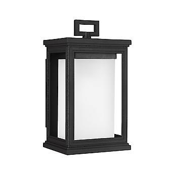 Elstead-1 lumière petite lanterne murale-texturé finition noire-FE/ROSCOE/S