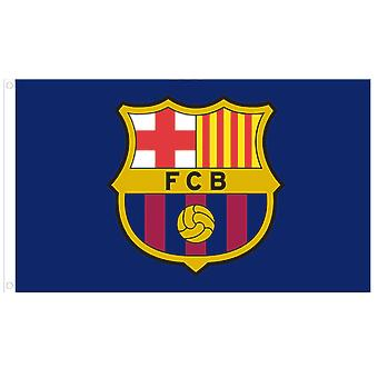 F.C. Barcelona Official Crest Football Flag 1520mm x 910mm (bst)