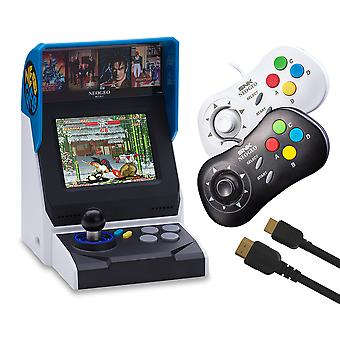 Neogeo mini console complete bundle (includes neogeo mini + 2 x neogeo controllers + hdmi cable + 40 classic neogeo games)