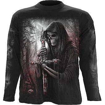 Spiral Direct Gothic SOUL SEARCHER - Longsleeve T-Shirt Black|Reaper|Cross|Souls