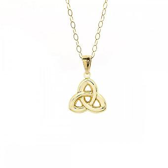 Eternity 9ct Gold Celtic Pendant And 16'' Chain