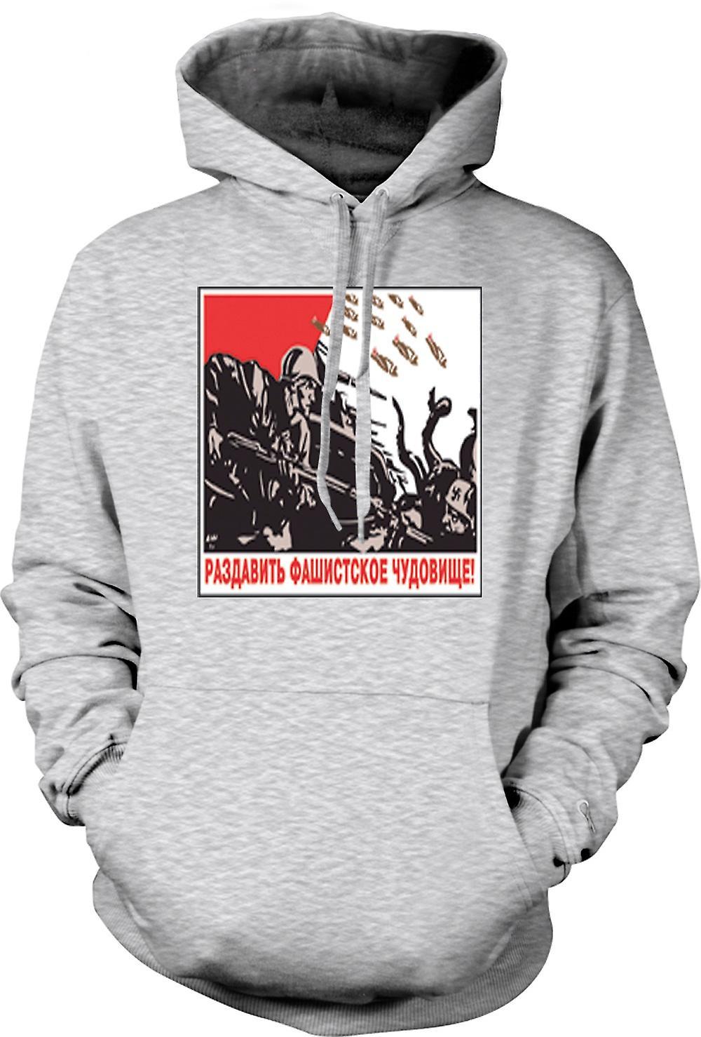 Mens Hoodie - Russian Propoganda War Poster