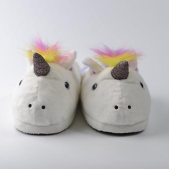 Unicorn Plush Slippers