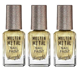 Barry M 3 X Barry M Molten Metal Nail Paint - Gold Digger