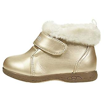 Toddler Girls Ankle Boots with Straps and Fur Cuffs Slip-On Fashion PU Shoes