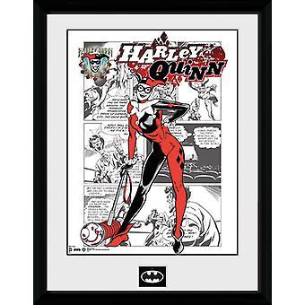 Batman tegneserier Harley Quinn Comic indrammet Collector Print 40x30cm