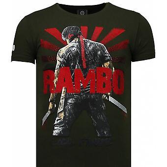 Rambo Shine-Rhinestone T-shirt-Green