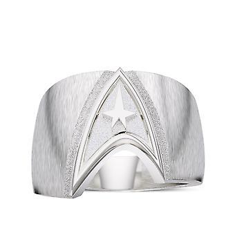 Star Trek Logo Gents Ring In Sterling Silver