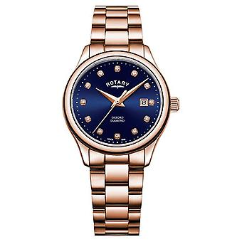 Rotary | Women's Oxford | Rose Gold PVD Plated | Blue Sunray Dial | LB05096/05/D Watch