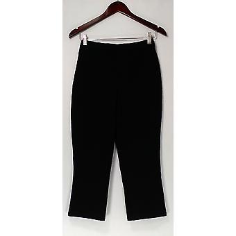 Isaac Mizrahi Live! Pants 24/7 Stretch Cropped Black A223819