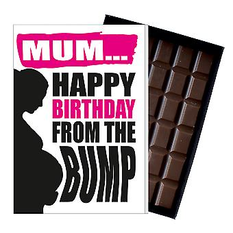 Funny Birthday Gift From The Bump Chocolate Greeting Card Present For Pregnant Women MIYF150