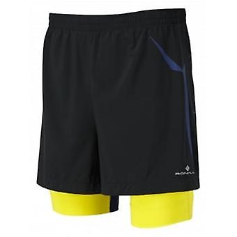 Trail Fuel Twin Short Black/Sun Mens