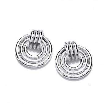 Cavendish French Silver Band Maze Earrings