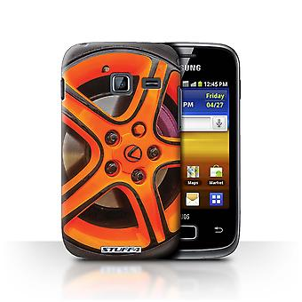 STUFF4 Case/Cover for Samsung Galaxy Y Duos/S6102/Orange/Pink/Alloy Wheels