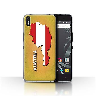 STUFF4 Case/Cover for BQ Aquaris X5/Austrian/Austria/Flag Nations