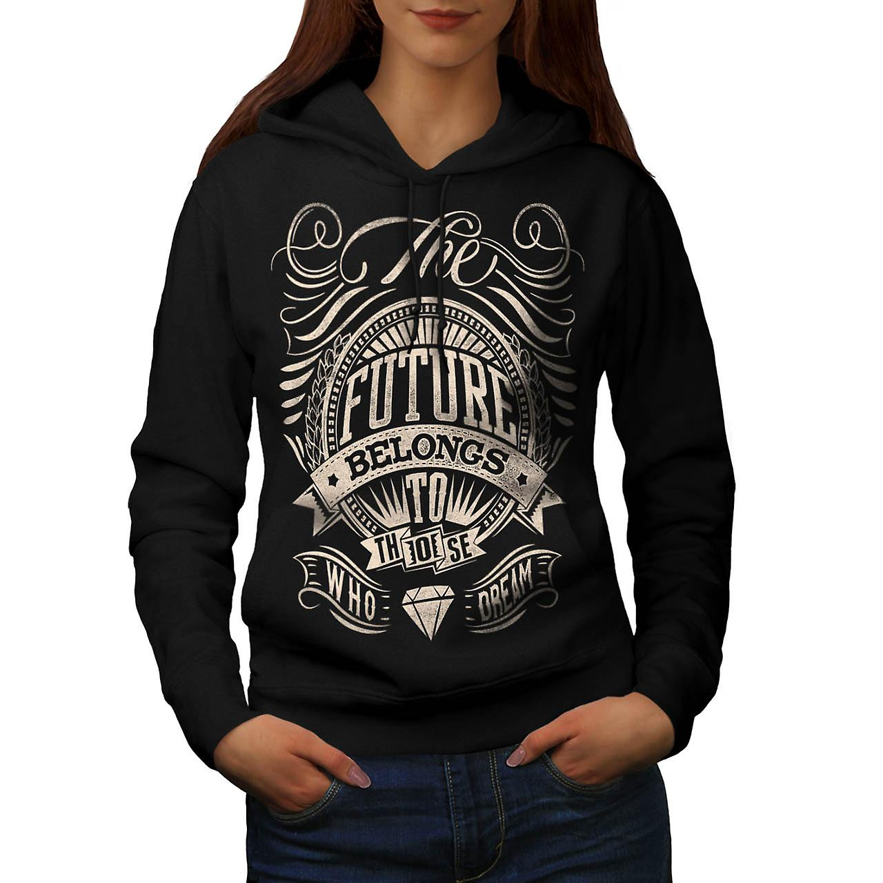 Future For Dream USA About Life Women Black Hoodie | Wellcoda