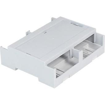 DIN rail casing Cover (gray) 106.2 x 100 x 31.9 Polycarbonate (PC) Grey Axxatronic CDIB/6ST/L2-KIT-CON 1 pc(s)