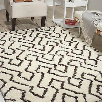 Nourison Galway Rugs Glw03 In Ivory And Chocolate