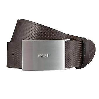 GOLF belts belts men's belts leather belt Brown 3498