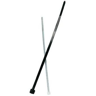 Cable tie 200 mm Black UV-proof Fischer 37573