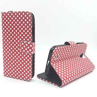 Mobile phone case pouch for mobile Samsung Galaxy S4 polka dot Red